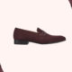 Malone Souliers Miles Old Purple Suede Loafers