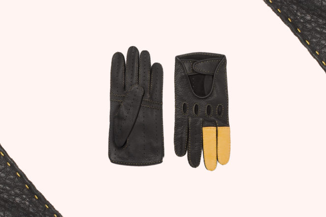 Connolly + Goodwood Leather Driving Gloves