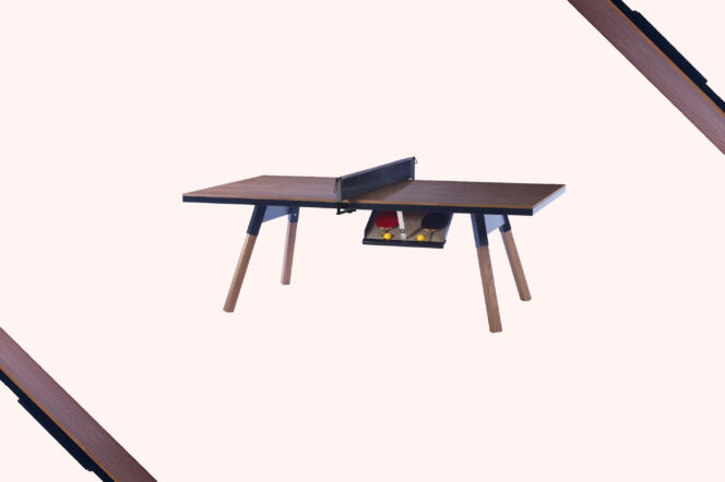 RS Barcelona Black Walnut Ping-Pong Table and Desk