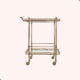 Soho Home Brass Drinks Trolley