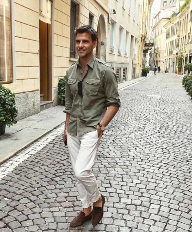 Johannes Huebl shares his spring style and grooming must-haves
