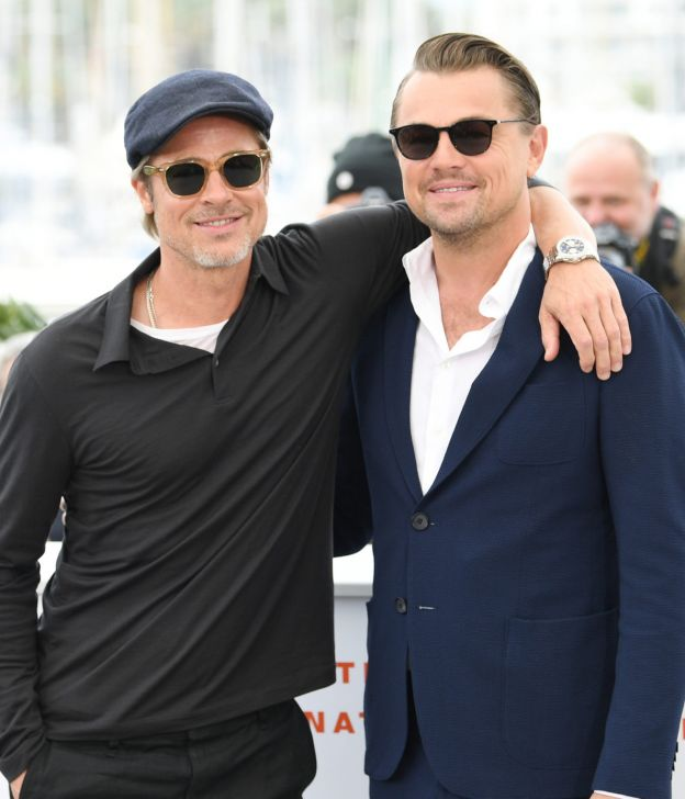 CANNES, FRANCE - MAY 22: Brad Pitt and Leonardo DiCaprio attend thephotocall for
