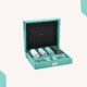 Tiffany Leather-Trimmed Travel Poker Set