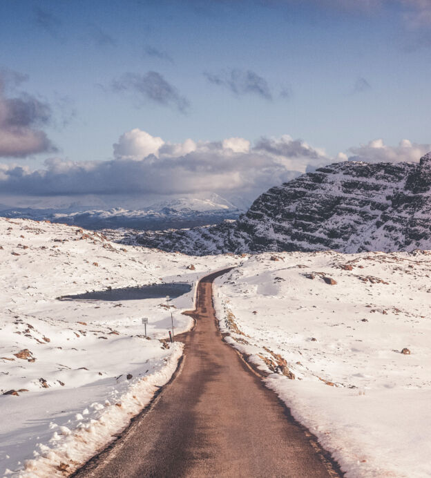 aleks cvetkovic best uk staycation snow road scotland