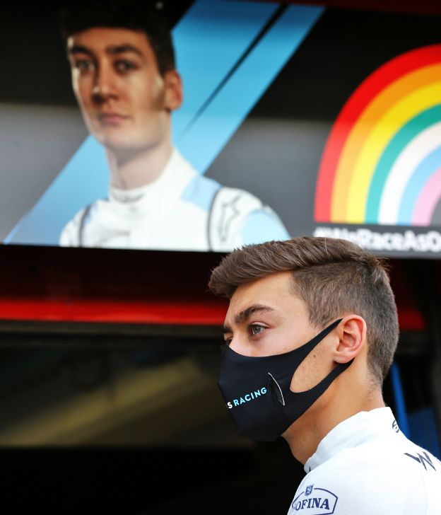 george russell formula one racing driver williams mercedes