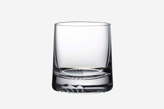 nude whisky glass