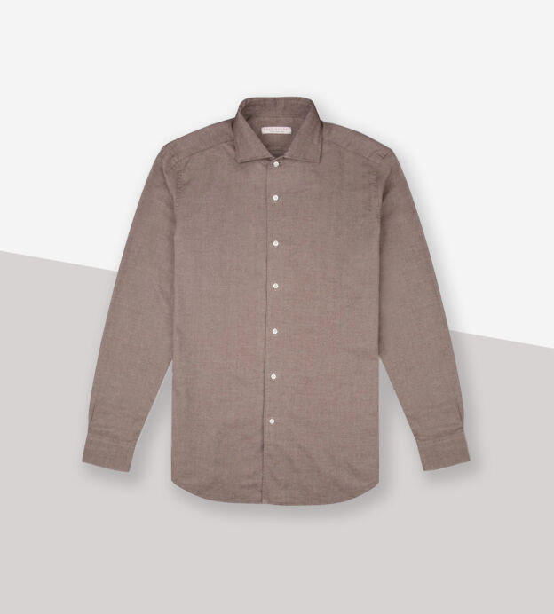 luca faloni brushed cotton shirt