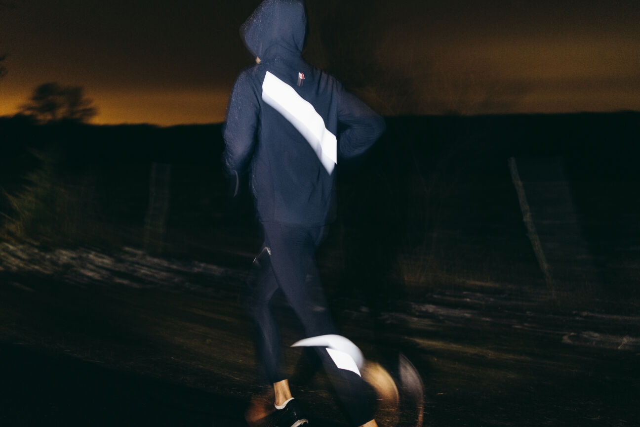 The most stylish reflective gear for an outdoor winter workout